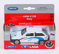 "Машина Welly  ""LADA 2108"" ралли, металлическая,  42377RY"