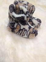 Чуни из натуральной овечий шерсти