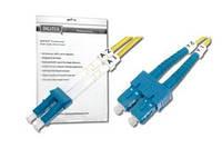 Оптический патч-корд DIGITUS LC/UPC-SC/UPC, 9/125,OS2,duplex,2m, DK-2932-02