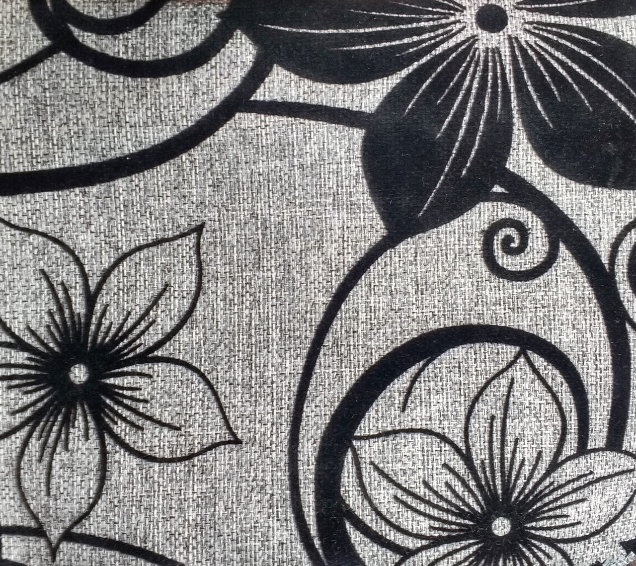 Мебельная рогожка с флоком ткань Шервуд серый