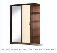 Шкаф купе Марсель 120 см на 46 см с углом, фото 1