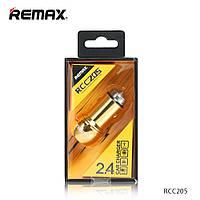 Зарядное Устройство Для Автомобиля Remax Bullet RCC-205 3.1A 2*USB Gold Для Смартфонов/Планшетов