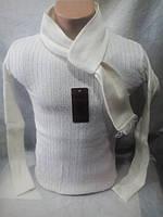 Мужской молодежный белый свитер 44-48 рр