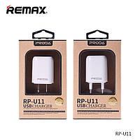 Зарядное устройство (USB/Розетка) Proda Flat RP-U11 1.0A 1*USB White Для Смартфонов Евровилка