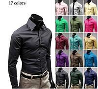 Мужская приталенная рубашка. Рубашки мужские. Сорочка приталеная. Slim.Код:КОРМ1