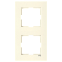 2-я вертикальная рамка VIKO Karre крем