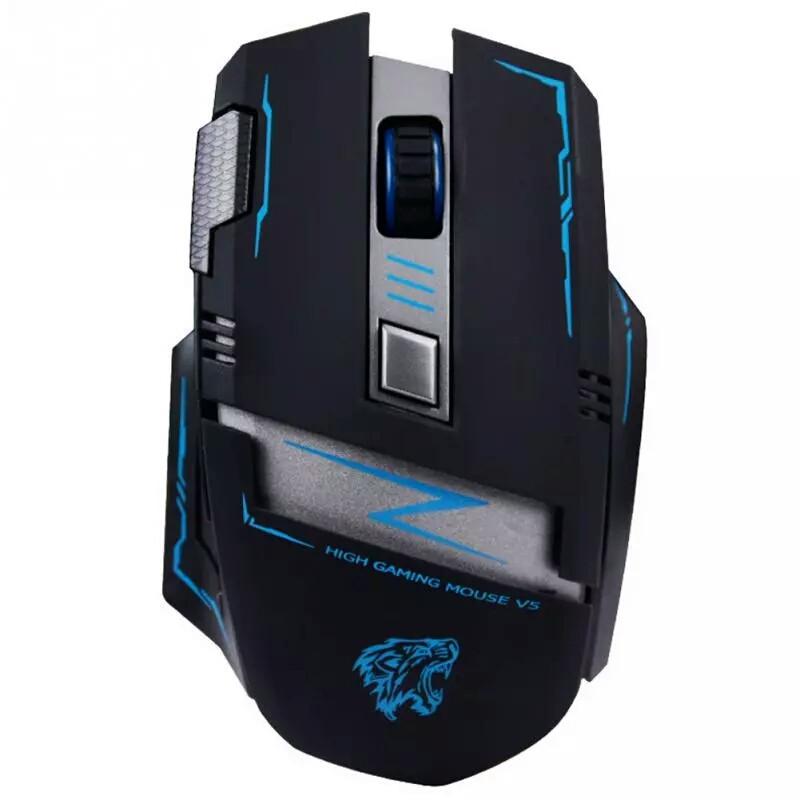 Оригинальная беспроводная игровая лазерная мышь Actme v5 со встроенным аккумулятором черная