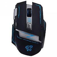 Оригинальная беспроводная игровая лазерная мышь Actme v5 со встроенным аккумулятором черная, фото 1