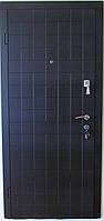 Двери стальные входные Каскад гнутый профиль венге темный /венге светлый