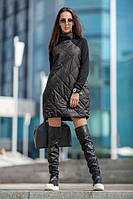 Женское тёплое стёганое платье.