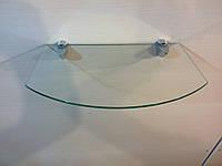 Полка стеклянная под тюнер прозрачная 5 мм 35 х 22 см
