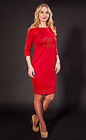 Женское Платье Шанель красное, р.44-56