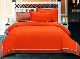 Покрывало с наволочками Halley Home Nature оранжевое 230*260
