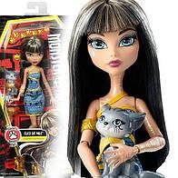 Кукла Монстер Хай Клео Де Нил с питомцем котенком Monster High Cleo De Nile Ghoul's Beast Pet with Kitten