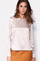 Модная блуза женская из атласа в 2х цветах OPS