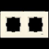 2-я горизонтальная рамка VIKO Karre крем