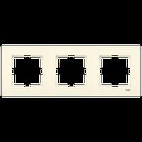 3-я горизонтальная рамка VIKO Karre крем