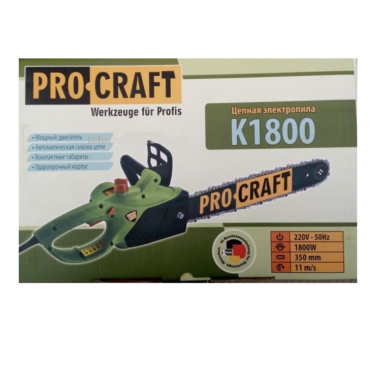 Пила цепная электрическая Procraft K1800