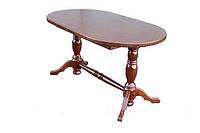 Стол из натурального дерева для кухни ОВ-02 1500(1900)х850х750 мм