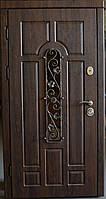 Входные Двери Арка Ковка дуб бронзовый (две трубы, улица)