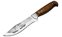 """Нож охотничий """"Корсар"""", с рисунком, кожанный чехол, рукоять из дерева, ножи для охоты"""