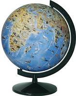 Глобус физический с животными лакированный 32 см. с подсветкой, на пластиковой подставке