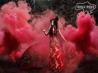 Містична фотосесія з кольоровим димом.