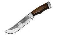 """Нож для охоты """"Золотой карась"""", с рисунком, чехол кожа, ножи охотничьи, для охоты"""