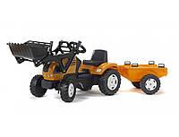 Трактор на педалях с прицепом Falk RENAULT ARES 886 RX желтый