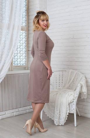 Женское трикотажное платье Софи бежевое, р.44-56, фото 2