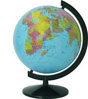 Глобус политический лакированный 32см. с подсветкой, на пластиковой подставке