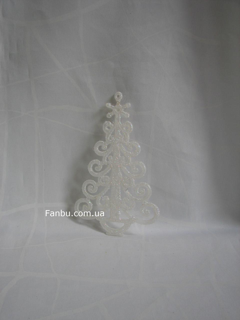 Елочка белая(пластик), фото 1