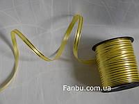 Лента полипропиленовая желто золотая(ширина 1 см)отрез 10м