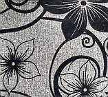 Мебельная рогожка с флоком ткань Шервуд серый, фото 2