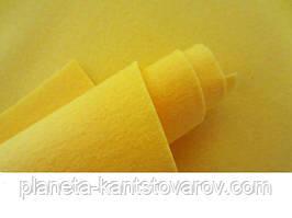 Фетр желтый 20 листов (1мм20см х 30см)