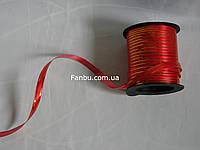 Лента декоративная полипропиленовая красно золотая(ширина 1 см)1 упаковка 10м
