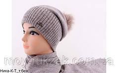 """Комплект шапка и шарф вязаный женский """"Ника"""""""