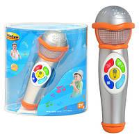 Микрофон детский 2052 NL звук, свет, на бат-ке, в слюде, 21-17-8см