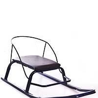 Санки с мягким сиденьем и спинкой  (мод.3) 5406 Спутник