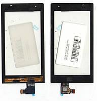 Сенсор Sony ST25i Xperia mini черный (оригинальный)