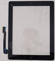 Сенсорное стекло для Apple iPad 3 черное с кнопкой Home Копия ААА