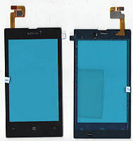 Сенсор Nokia Lumia 525 / 520 чёрный оригинал 116x60mm