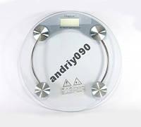 Весы напольные стеклянные (круглые) на 150 кг