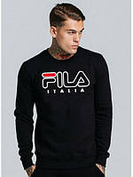Свитшот Fila Italia черный с логотипом,унисекс (мужской,женский,детский)