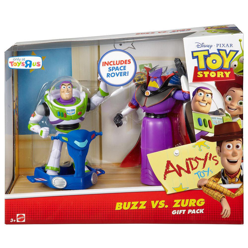 Набор 2в1 Базз Лайтер (Светик) и Зург, История игрушек - Buzz Lightyear&Zurg, Toy Story 3, Mattel