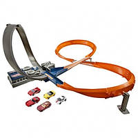 Hot Wheels Моторизированный трек 8 в 1 с 6 машинками Exclusive Figure 8 Raceway with 6 Cars