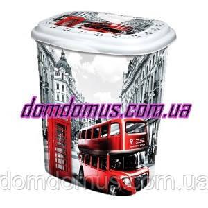 """Корзина для белья с рисунком """"London"""" 53 л  Elif Plastik, Турция"""