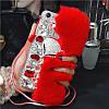 """SAMSUNG A5 A500 оригинальный чехол со стразами камнями мехом для телефона """"LUXURY PRIVILEGE"""", фото 5"""