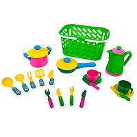 Набор игрушечной посуды в корзинке 04-436 Kinderway