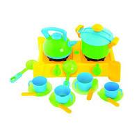 Игровой набор Посуда с плитой 04-414 Kinderwey